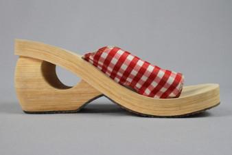 Summer wooden sandals
