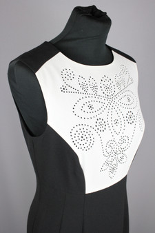 Black with white cut out bib - UK 10