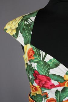 Floral 50's inspired dress - UK 14