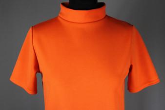Orange high neck shift dress - UK 8