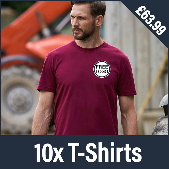 RX151 - 10 T Shirts - Embroidered Logo Bundle