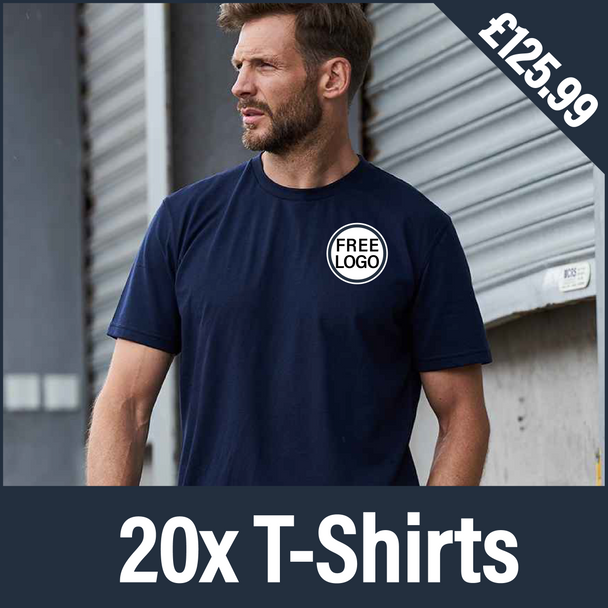 RX151 - 20 T Shirts - Embroidered Logo Bundle