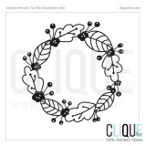 Autumn Wreath | Digital Cut File