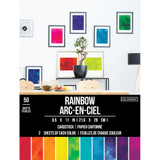 Watercolor Painted Rainbow Cardstock 8 1/2 x 11 | ColorBok
