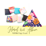 4x4 Album | Paige Evans Floral| We Are Memory Keepers
