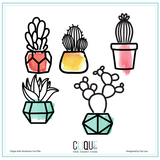 Succulent Potted Plants | Cut Files | Clique International Exclusives
