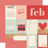 February | 12 x 12 Patterned Paper | Simple Stories -Hello Today