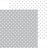 Stone Grey Swiss Dots | 12 x 12 Patterned Paper | Doodlebug Designs
