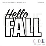 Hello Fall | Digital Cut File