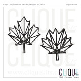 Geometric Maple Leaf | Digital Cut File