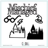 Digital Die Cuts | Mischief Managed | Clique Kits