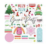 12 x 12 Cardstock Stickers   Gnome Christmas Party   Photoplay Paper