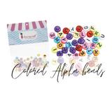 Colored Alphabet Beads | Dress My Craft