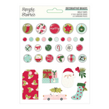 Decorative Brads | Holly Days | Simple Stories