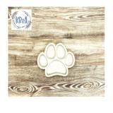 Large Wood Shaker Set| Paw print | Krea