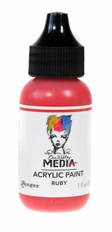 Ruby Acrylic Paint | Dina Wakley 1 oz heavy body | Ranger