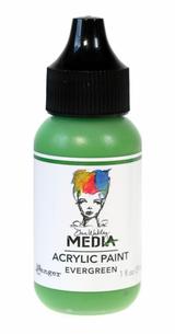 Evergreen Acrylic Paint   Dina Wakley 1 oz heavy body   Ranger