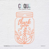 Thank You Jar  |  Cut File