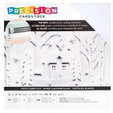 Precision 12x12 White textured Cardstock | American Crafts