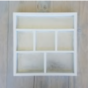 Magnetic Shadow Box | White | Foundations Decor