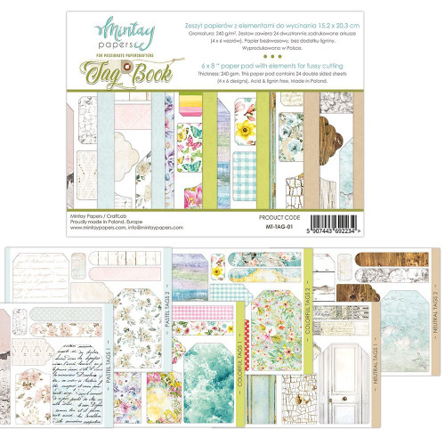 Tags Book   6x8 Papers to Fussy Cut   Mintay Papers