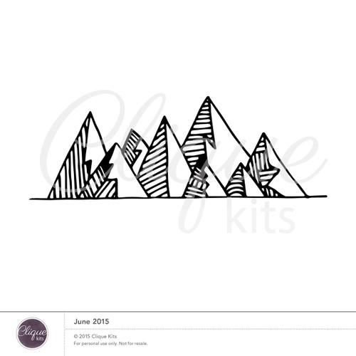 Mountain Range- June 2015 | Digital Die Cut