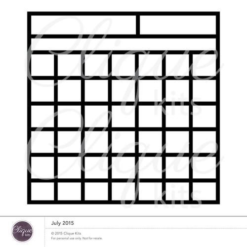 Calendar| Digital Die Cut