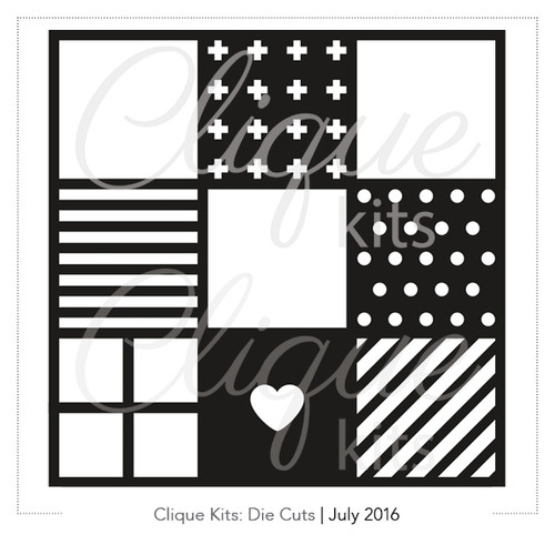 Many Squares - July 2016 | Digital Die Cut