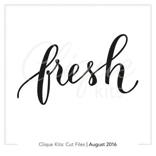 Fresh  | Digital Die Cut