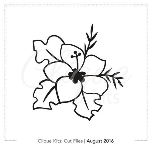 Hibiscus  | Digital Die Cut