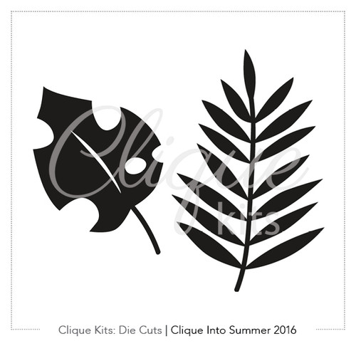 Tropical Leaves  | Digital Die Cut