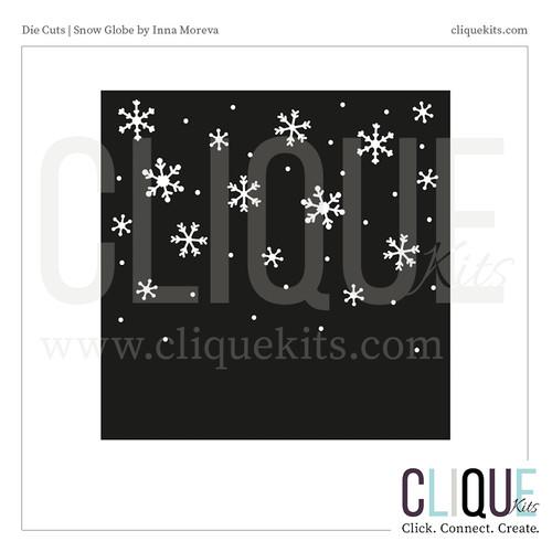 Falling Snowflakes  | Digital Die Cut
