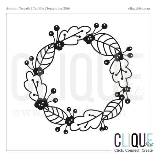 Autumn Wreath | Digital Cut File