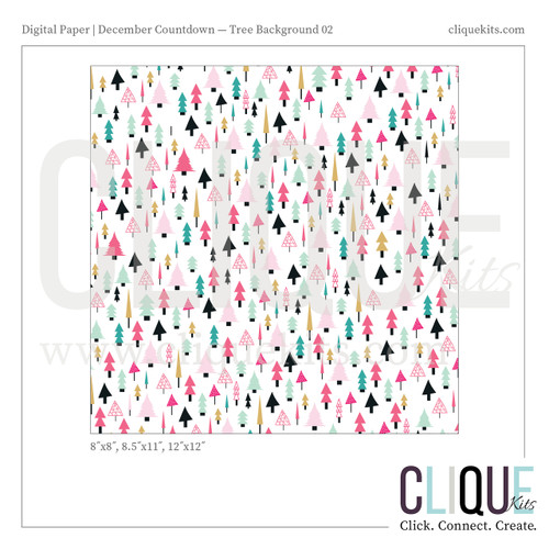 Playful Tree Paper - Holiday 2016 | Digital Print