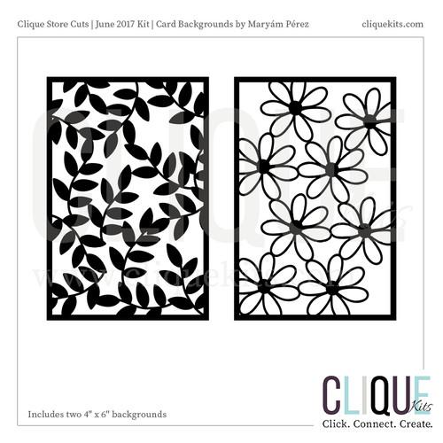 Card Background - June 2017   Digital Die Cut
