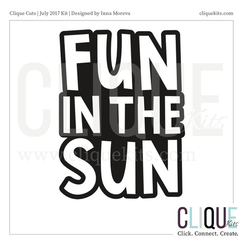 Fun in the Sun  | Digital Die Cut