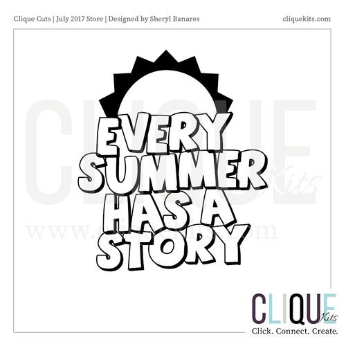 Summer Story - July 2017 | Digital Die Cut