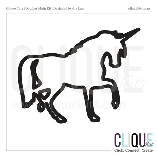 Unicorn - October 2017 | Digital Cut File
