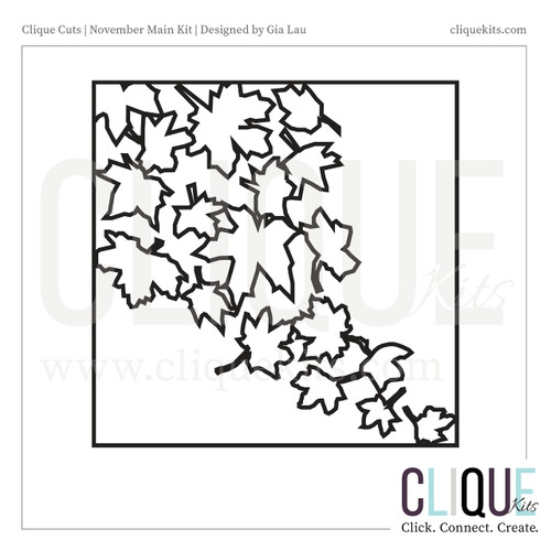 Fall Leaves - November 2017   Digital Cut File