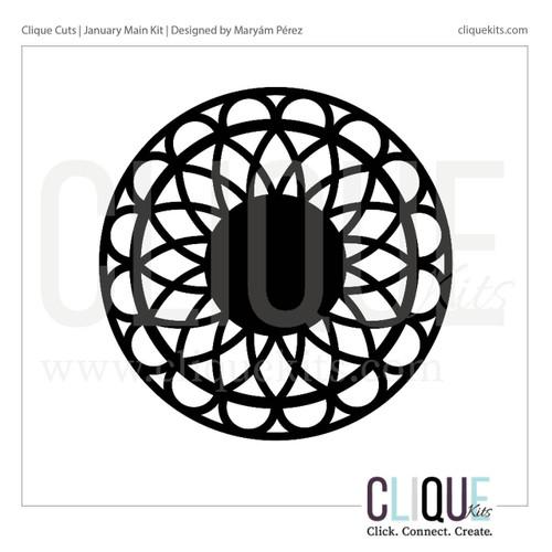 Simple Mandala - January 2018 | Digital Cut File