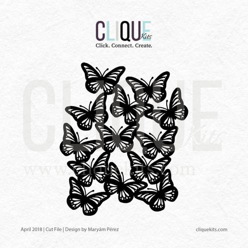 Butterfly Cluster  | Digital Cut File