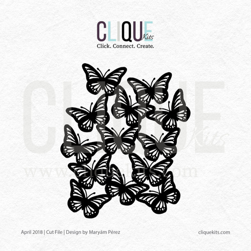 Butterfly Cluster - April 2018 | Digital Cut File