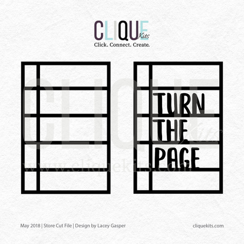 Turn the Page - May 2018 | Digital Cut File
