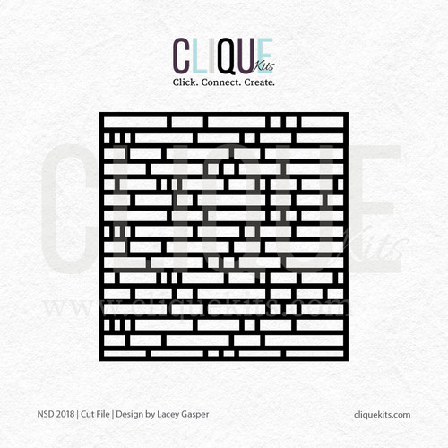 Brick - National Scrapbook Day 2018 | Digital Cut File