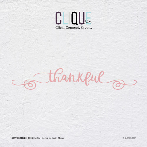 Thankful  | Digital Cut File