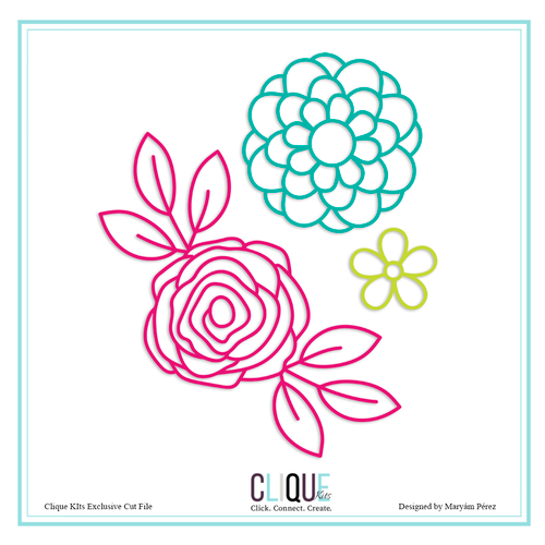 April 2019 Flower Set | Clique Kits Exclusive | Maryam Perez