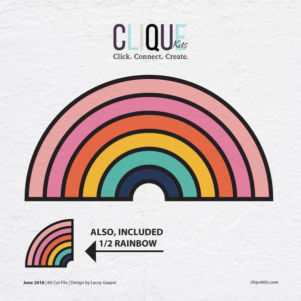 Rainbow | Digital Cut File| Lacey Ann Designs