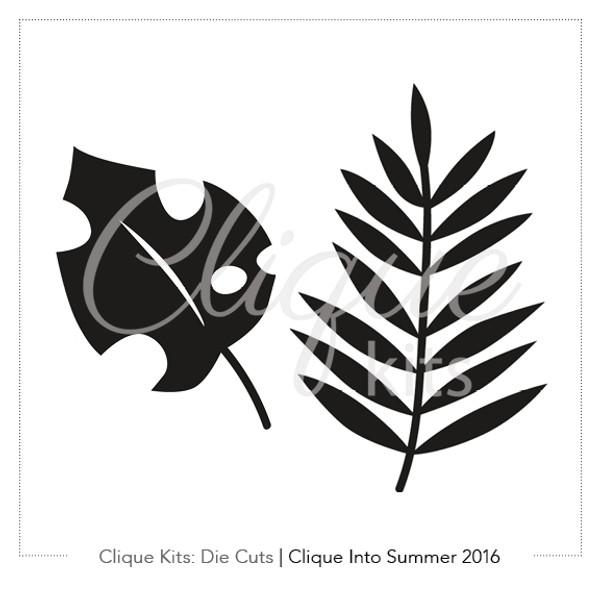 Tropical Leaves    Digital Die Cut