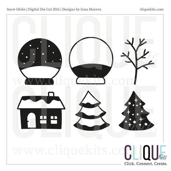 Snow Globe  | Digital Die Cut