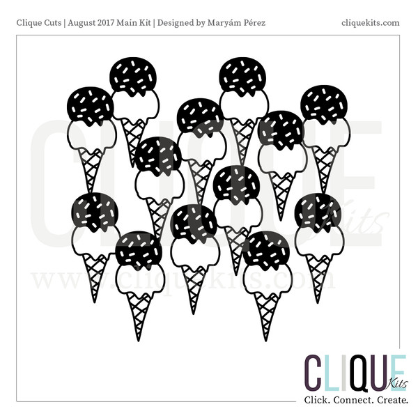 So Much Ice Cream - August 2017 | Digital Die Cut